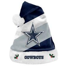 Dallas Cowboys Equipo Big Logo Estrella Vacaciones Peluche Sombrero De Santa Navidad! nuevo! SH19