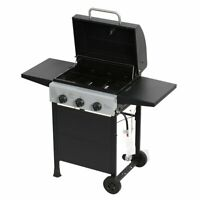 Master Cook 3 Burners BBQ Gas Grills Garden Barbecues Side Table 30,000 BTU US