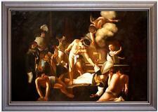 Ölbild Martyrdom Saint Matthew, Caravaggio,Ölgemälde HANDGEMALT, Gemälde 60x90cm