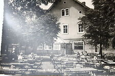 """21881 Ak Waldgasthof """" Auer """" at Moritzburg GDR Benches Table Guests Trees to"""