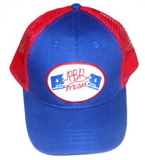 Pabst Blue Ribbon Beer PBR MUSIC Custom Mesh Trucker Hat Blue Red Ball Cap
