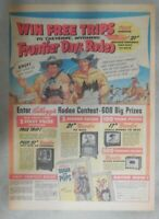 Kellogg's Cereal Ad: Wild Bill Hickok TV Show From 1954 Size: 11  x 15  inches