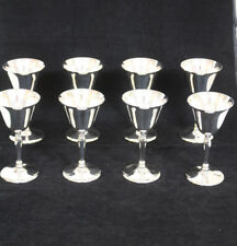 Set Of 8 Sheffield Silver Plate Cordial Goblets