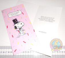 SNOOPY Peanuts 80s Hallmark italy Greeting Card friend - biglietto auguri amici