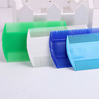 3x Pet Plastic Head Lice Removal  Comb Durable Double Side Nit Comb Useful HC