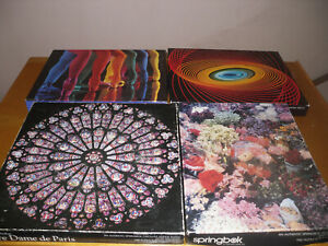 SPRINGBOK 500 piece puzzles (lot of 4) as shown, read description