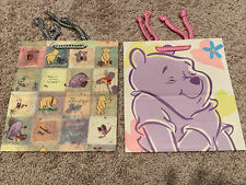 Disney Classic Pooh Med Gift Bag Pair Birthday or All Occasions Vintage