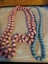 Grey And Pink Beaded Necklaces