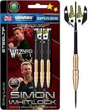 WINMAU SIMON WHITLOCK Steel Tip BRASS Dart Board DARTS Christmas -  22 or 24gram