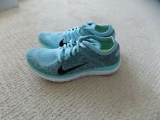 NEW WOMENS 7 7.5 10 NIKE FREE 4.0 FLYKNIT RUNNING SHOES GLACIER ICE BLUE 631050