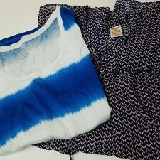 Faded Glory Dress XXL Lot of 2 Shirts Tank Top Tee T-shirt womens tie dye tunic