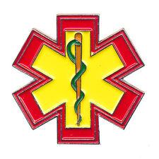 EMT Star of Life Rettungsdienst Äskulapstab 3D Metall Button Pin Anstecker 0543