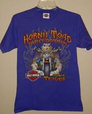 Purple Temple Texas Biker Motorcycle Horny Toad Harley Davidson Shirt S