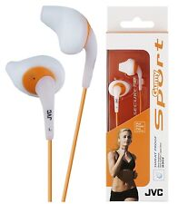 JVC haen10 Bianco Gumy SPORT IN EAR CUFFIE sweat proof originale / NUOVISSIMO