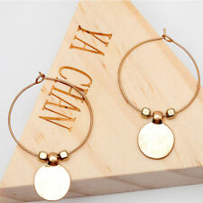 Fashion Women Lady Triangle Round Circle Ear Stud Silver Gold Earrings Jewelry