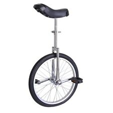 """20"""" Silver Unicycle Cycling Scooter Circus Bike Skidproof Tire Balance Exercise"""