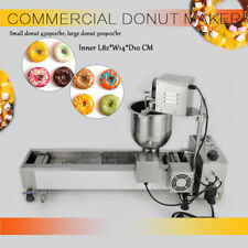 220V Commercial Automatic Donut Maker Making Machine, amplia Oil Tank, 3 Sets Mold
