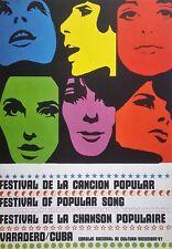 Cuban Art. Print of a poster by Consejo de Cultura.Varadero 67, 1967.