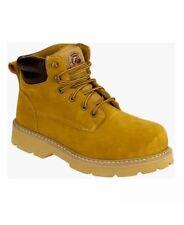 BRAHMA Steel Toe Leather Work Boots Oil Resistant Wheat Bravo II Men's Size 8.5