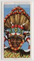 Zulu Ricksha Cart Man Durban South Africa 40+ Y/O Trade Ad Card