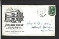 "CANON CITY,COLORADO,3CT BANKNOTE COVER,ILLUST HOTEL ADVT. ""McCLURE HOUSE""."