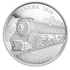2010 $20 FINE SILVER COIN - SELKIRK - CANADIAN LOCOMOTIVES TRAINS