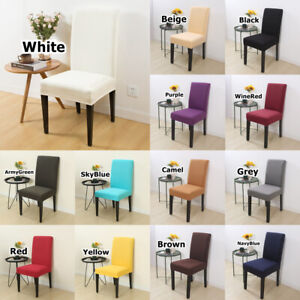 1/4/6 PCS Dining Chairs Seat Cover Slip Home Kitchen Removable Stretch Protector