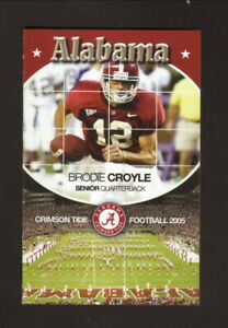Alabama Crimson Tide--Brodie Croyle--2005 Football Pocket Schedule--State Farm