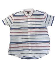 Tommy Hilfiger Men's Short Sleeve Button Up Woven Shirt