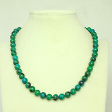 """Genuine Natural Chrysocolla Necklace 18"""" Dia. 8mm"""