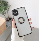 Case For iPhone  11 XS XR 7 8 X Shockproof Ring Holder Clear TPU Cover