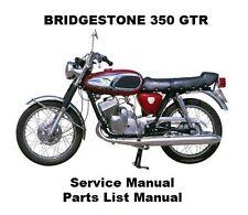 BRIDGESTONE 350 GTR Service Repair & Parts List Workshop Manual PDF on CD-R GTO