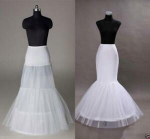 Fishtail Mermaid Wedding Dress Petticoat Bride Underskirt Prom Stock Crinoline