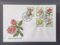 SWITZERLAND FDC 1982 HELVETIA 25.11.1982 PRO JUVENTUTE ROSE
