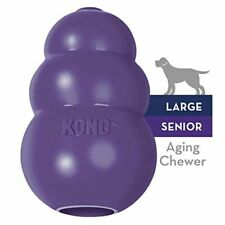 World's Best Dog Toy Kong Classic Rubber Chew Toy Stuffing Treats Sizes Purple