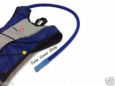 Blue insulated hydration drink tube cover sleeve - for water reservoir, backpack