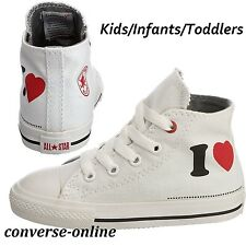 Bambini neonati Converse ALL STAR Product Red I Love Sneaker alte Boot Taglia UK 6