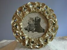Photo Frame CIRCULAR SWIRLS Frosted Silver Filigree Detailing