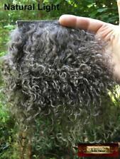 M00059-Short Morezmore Tibetan Lamb Fur Ash Brown 4 x 4 Doll Hair