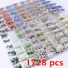 Hot 1728pc Flat Back Nail Art Rhinestones Glitter Diamond Gems 3D DIY Decoration