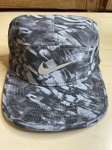 Nike Hat Reflective Swoosh AW84 Dri Fit Aero Bill Strap 5 Panel Running Cap