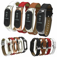 Leather Wristband Replacement Strap Bracelet Watch Band For Xiaomi Mi Band 3