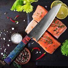 JAPANESE 8 INCH VG10 67 LAYER DAMASCUS CHEF KITCHEN KNIFE WOOD HANDLE SANTOKU