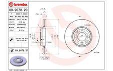 1x BREMBO Disco de freno delantero Ventilado 258mm Para DACIA LODGY 09.9078.21