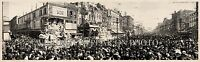 1913 Rex Parade Carnival, New Orleans LA Panoramic Vintage Photograph