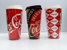 Coca-Cola 20oz Travel Mugs (Set of 3) - BRAND NEW