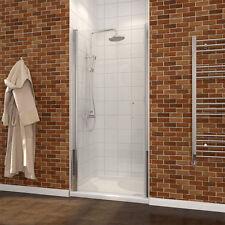 """SUNNY SHOWER Full Semi-Frameless Pivot Swing Shower Door 28"""" Chrome Promotion"""