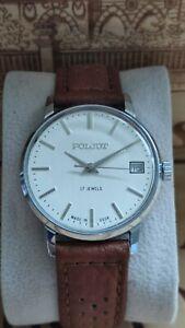Vintage poljot watch.GWO.USSR. New strap.