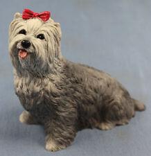 yorkshire terrier figur hund castagna hundefigur  alabaster 8356