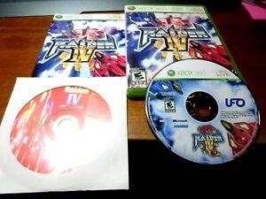RAIDEN IV (Microsoft Xbox 360) classic shooter Complete /w Soundtrack Rare!